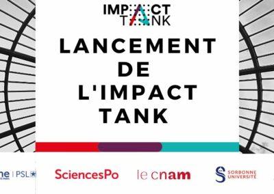 Lancement de l'IMPACT TANK le 30/09/2020 au Pavillon Elysée