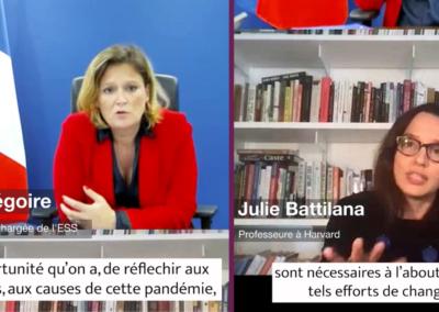 Extrait Olivia Grégoire et Julie Battilana : quel rôle de l'Économie à Impact face à la crise multidimensionnelle ?