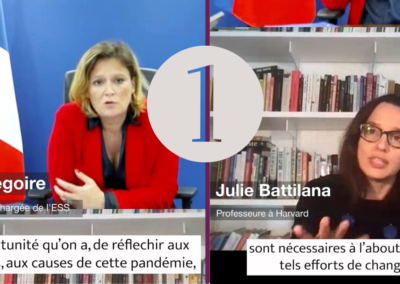 Le rôle de l'économie à impact face à la crise multidimensionnelle – Olivia Grégoire et Julie Battilana